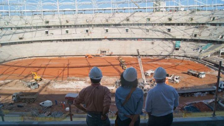 Reforma da Arena Fonte Nova (2010-2013). Crédito da Foto: Alessandra Lori.