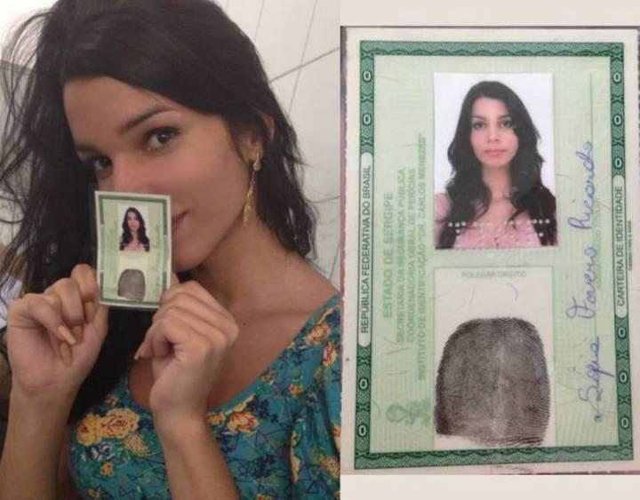 """""""Sofia Faveiro Ricardo"""", como no Registro Geral. Reconhecimento oficial do nome social é uma das pautas do movimento"""