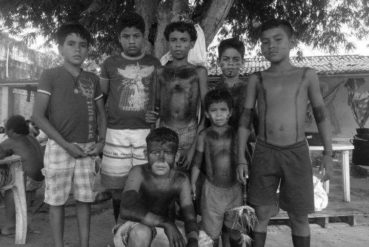 Curumins na retomada indígena Kariri-Xocó