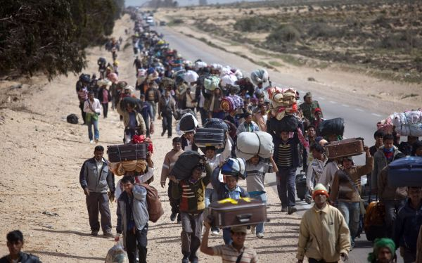 Refugiados sírios Foto/Emilio Morenatti